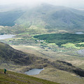 Landscape View Of Llyn Cwellyn And Moel Cynghorion In Snowdonia  by Matthew Gibson