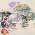 Landscape With A Girl by Auguste Renoir