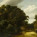 Landscape With A Village Road by Cornelis Gerritsz