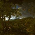 Landscape With Elijah And The Angel by PixBreak Art