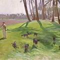 Landscape With Goatherd by John Singer Sargent