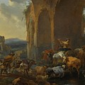 Landscape With Herdsmen Beneath Ruins by MotionAge Designs
