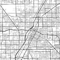 Las Vegas Nevada Usa Light Map by Jurq Studio