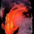 Lava Flowing Into The Ocean 17 by Jim Thompson