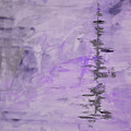 Lavender Gray Abstract by Voros Edit