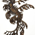 Leafy  by Kirk McGuire Bronze Sculpture