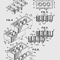 Lego Toy Building Brick Patent  by Chris Smith