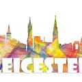 Leicester England Skyline by Marlene Watson