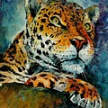 Leopard by Leonid Afremov