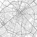Lexington Kentucky Usa Light Map by Jurq Studio