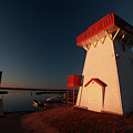 Lighthouse And Marina At Hecla In Manitoba by Mark Duffy