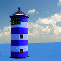 Lighthouse On The Sea by Bruce Nutting