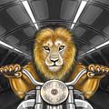 Lion On Motorcycle by Tahir Tahirov
