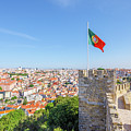 Lisbon Castle Flag by Benny Marty