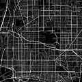 Long Beach California Usa Dark Map by Jurq Studio