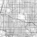 Long Beach California Usa Light Map by Jurq Studio