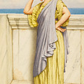 Looking Out To Sea by John William Godward