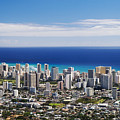 Lookout View Of Honolulu by Greg Vaughn - Printscapes