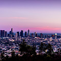 Los Angeles Skyline At Dusk by Gene Parks