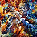 Louis Armstrong by Leonid Afremov