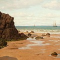 Low Tide At The Ris Beach by MotionAge Designs