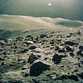 Lunar Rover At Rim Of Camelot Crater by NASA / Science Source