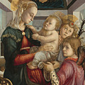 Madonna And Child With Angels by Sandro Botticelli