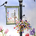 Magpies And Sweetpeas by Marsha Karle