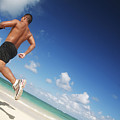 Male Beach Runner by Brandon Tabiolo - Printscapes
