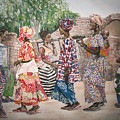 Malian Dancers by Caron Sloan Zuger