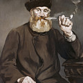 Man Smoking A Pipe by Edouard Manet