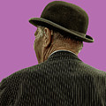 Man With A Bowler Hat by Toula Mavridou-Messer