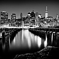 Manhattan Skyline At Night by Az Jackson