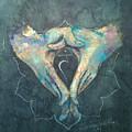 Manipura - Solar Plexus 'blue Hand' Chakra Mudra by Silk Alchemy