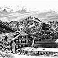 Many Glacier Hotel by Margie Wildblood