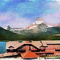 Many Glacier Hotel Panorama by Margie Wildblood