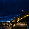 Margaret  Bridge In Budapest by Zoltan Vegh