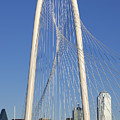 Margaret Hunt Hill Bridge In Dallas - Texas by Anthony Totah