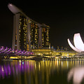 Marina Bay Sands Hotel And Artscience Museum In Singapore by Zoe Ferrie