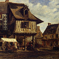 Market-place In Normandy by Theodore Rousseau