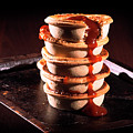 Meat Pies With Sauce And High Contrast Lighting. by Rob D