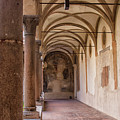 Medieval Hallway Of Italian Cloister by Patricia Hofmeester