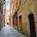 Medieval Street In Villefranche-sur-mer by Elena Elisseeva