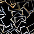 Metal Profile Channel In Packs At The Warehouse Of Metal Products by Evgenii Dergachev
