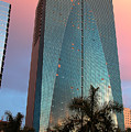 Miami Skyscraper At Sunset by Carl Purcell