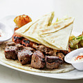 Middle Eastern Food Mixed Bbq Barbecue Grilled Meat Set Meal by Jacek Malipan