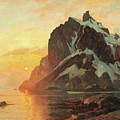 Midnattsol Lofoten by Thorolf Holmboe
