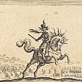 Military Commander On Horseback by Jacques Callot