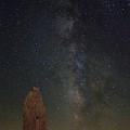 Milky Way At Trona Pinacles  by Rick Mueller