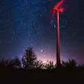 Milky Way Over The Wind Turbine by Valentin Valkov